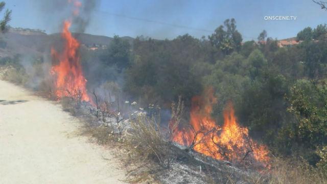 Fire near Sabre Springs