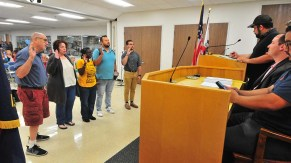 Will Rodriguez-Kennedy swears in new club and committee officials.