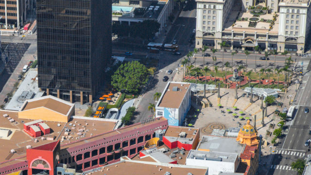 Aerial view of Horton Plaza