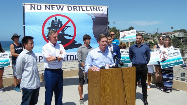 Rep. Mike Levin speaks at press conference