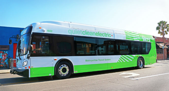 Battery-powered MTS bus