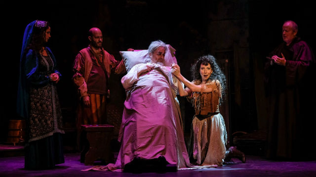 """Scene from """"Man of La Mancha"""" at San Diego Musical Theatre"""