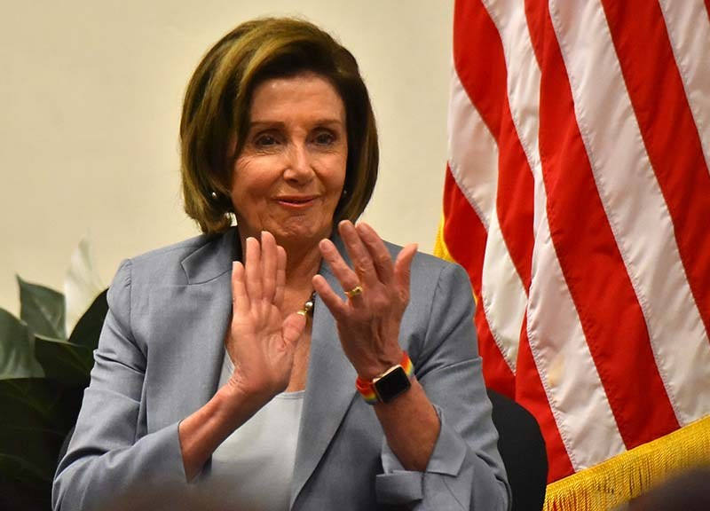 """Speaker Nancy Pelosi, applauding a comment by Rep. Mike Levin, said she asks her GOP House colleagues: """"What are you going to say when you go to see our Founders in heaven? 'I did everything I could possibly do to suppress the vote'?"""""""