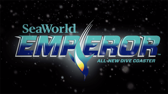 An emperor penguin is featured in logo of SeaWorld Emperor roller coaster.