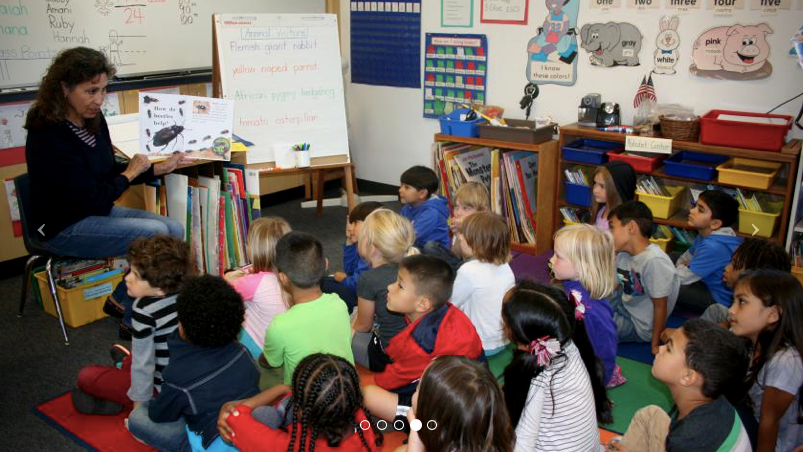 Classroom at Birney Elementary School in the San Diego Unified School District, one of 10 San Diego Unified schools winning 2020 honors.