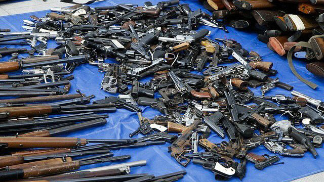 Weapons collected in a gun exchange