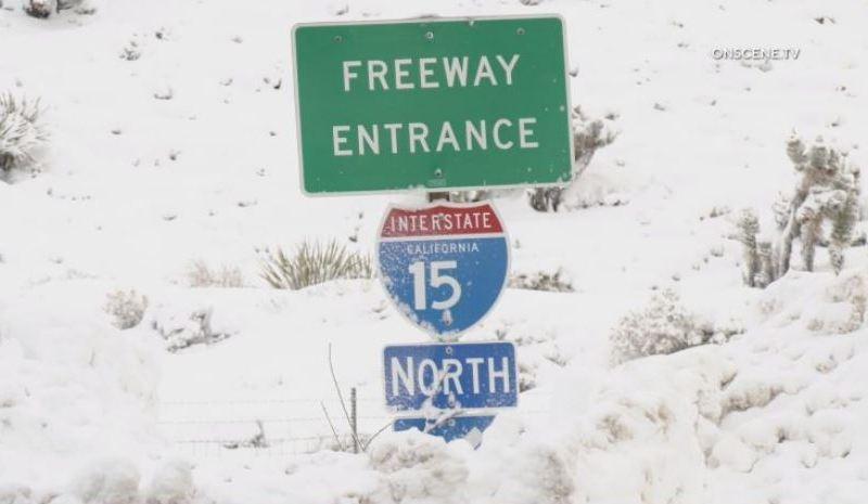 I-15 snow