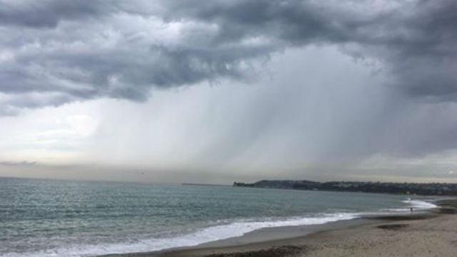 Rain on San Diego coast