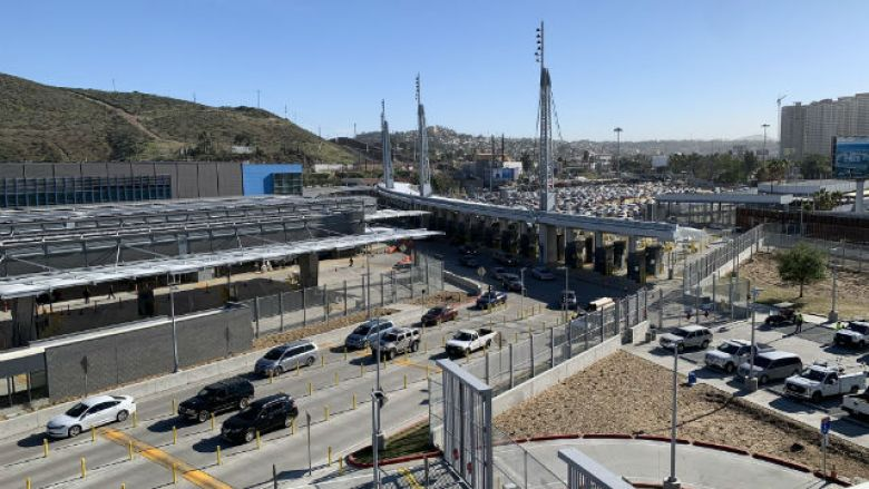 Completed port of entry at San Ysidro