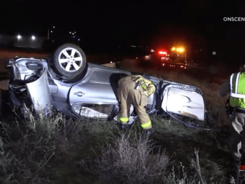 163 roll-over crash