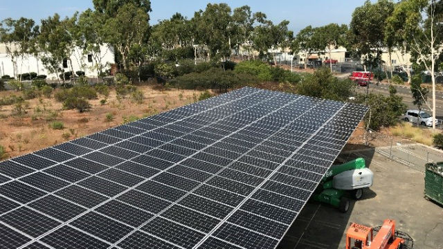 Solar panels at city facility