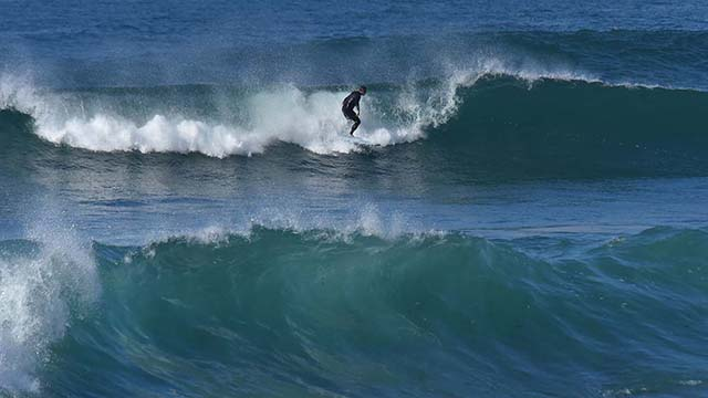 With some waves expected to be as high as 10 feet tall, surfers in La Jolla took advantage of the conditions.