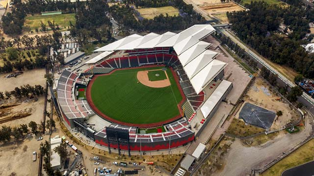 Estadio Alfredo Harp Helú seats 20,000 at the Magdalena Mixhuca sports complex used during 1968 Summer Olympics.