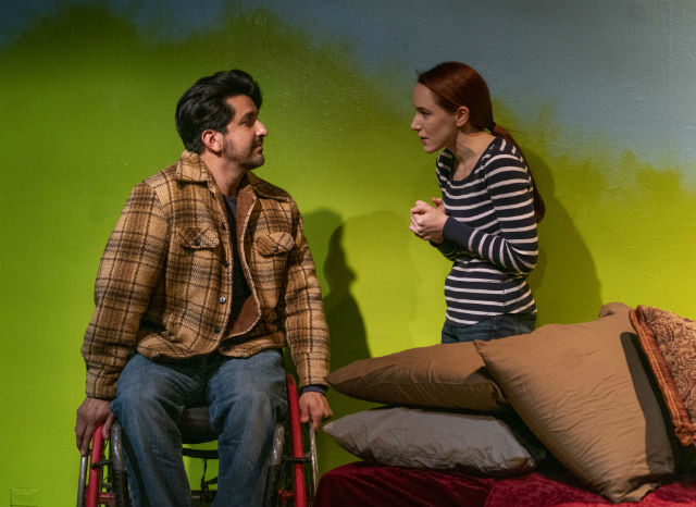 "Miguel Gongora Jr. and Heather Warren in ""Going to a Place Where You Already Are"""