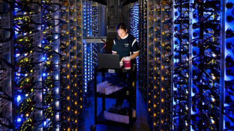 Technician in Google data center