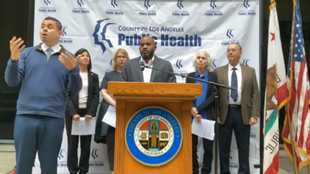 Los Angeles County health officials discuss case