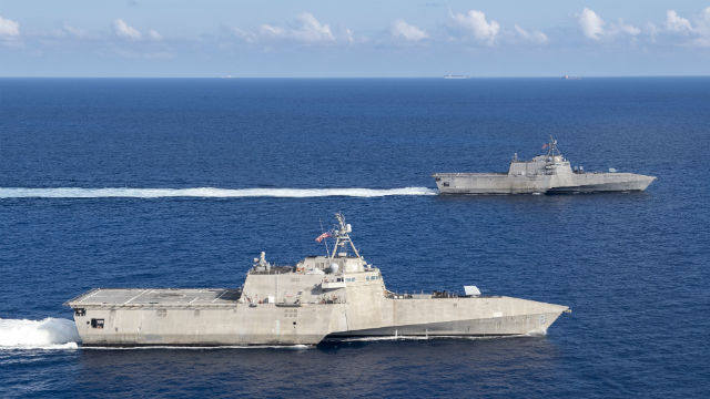 Littoral combat ships on patrol