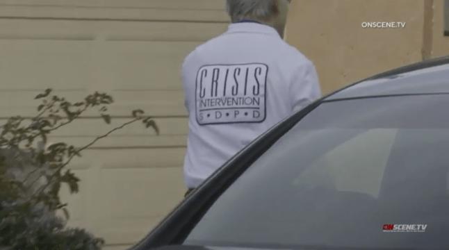 Crisis counselor arrives