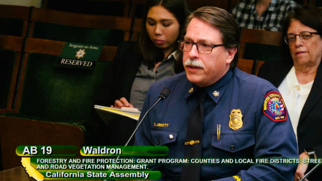 Fire chief testifies in support of vegetation management