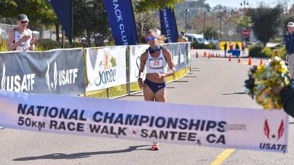 2020 Olympic Trials 50K race walk Santee