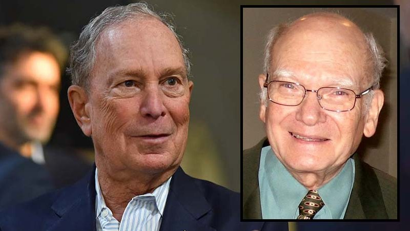 Mike Bloomberg (left) has a new fan in former San Diego business journalist Don Bauder (inset).