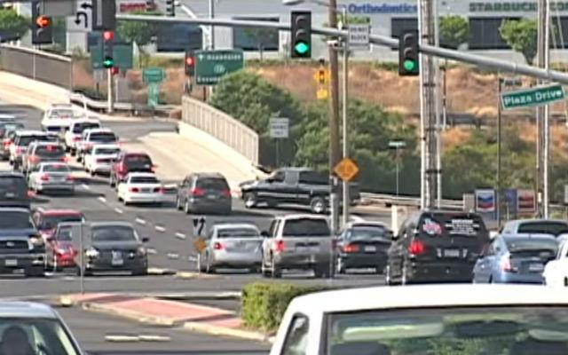 Congested Carlsbad traffic