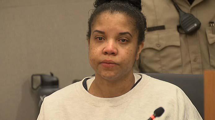 Latisha Ingram at earlier court hearing.