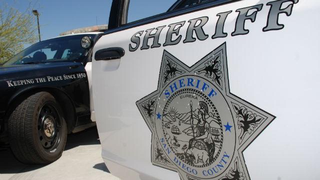 A San Diego Sheriff's cruiser