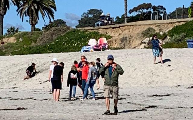 A beach crowd on Saturday