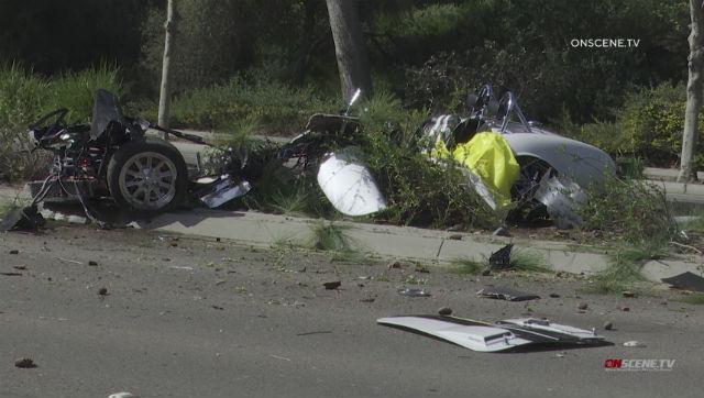 Wreckage of Cobra kit car