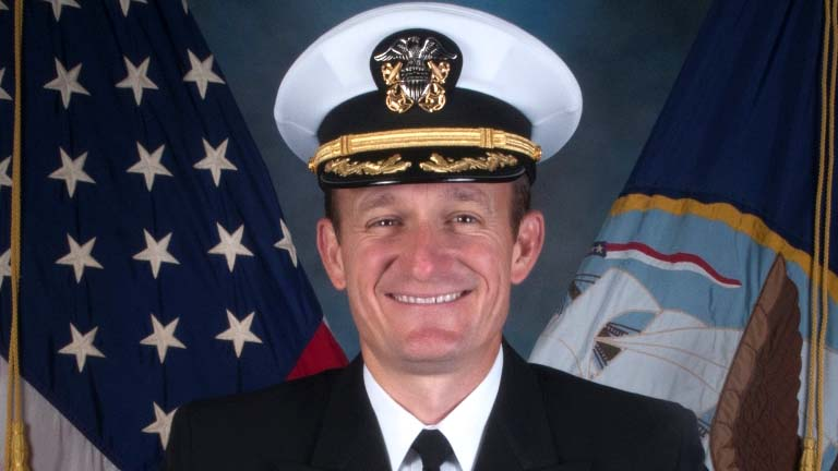 Navy Capt. Brett E. Crozier, commander of the USS Theodore Roosevelt, based in San Diego.