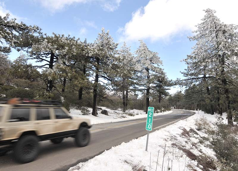Light traffic found beautiful vistas on Sunrise Highway in the Cleveland National Forest.