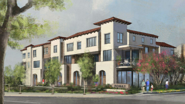 Rendering of Poway townhome project