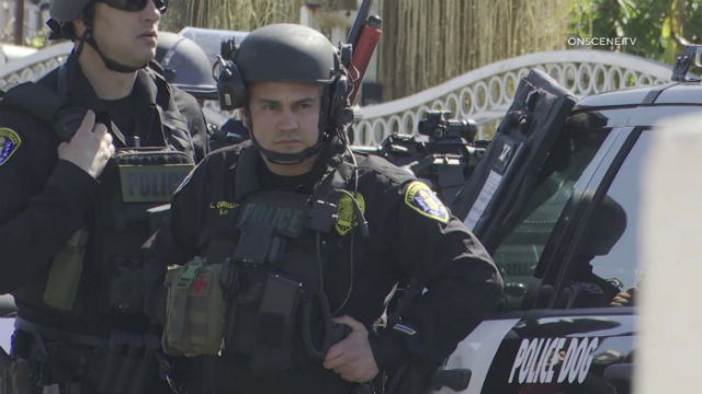 SWAT officers at the scene