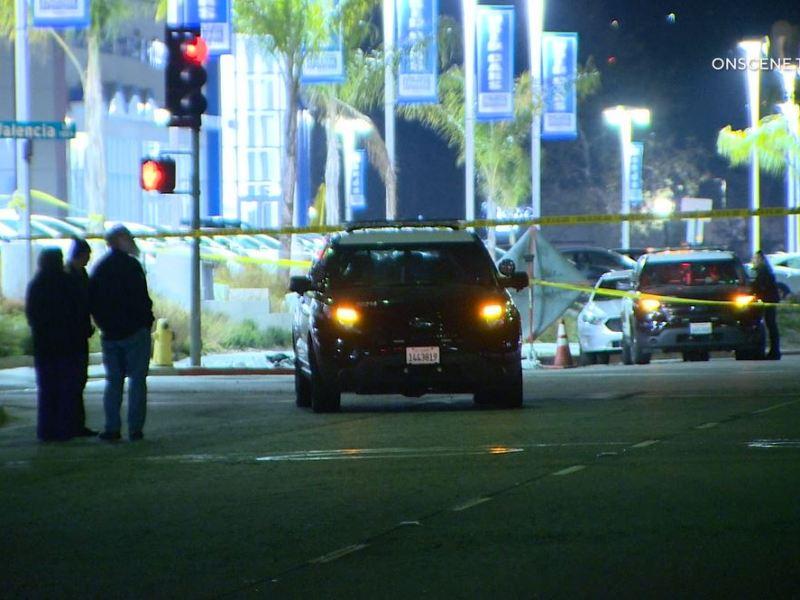 Sheriff's cruisers at the crime scene