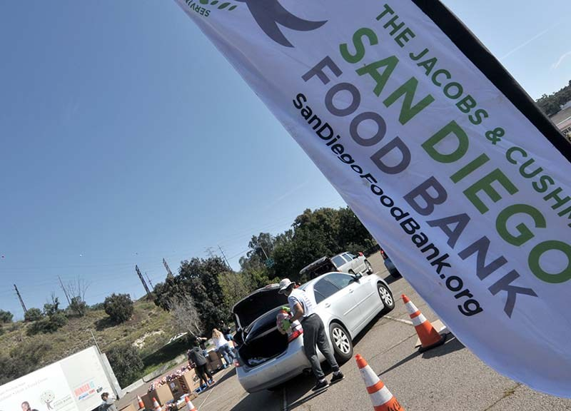 The Jacobs & Cushman San Diego Food Bank and local union members joined forces to give away food to 1,000 cars.