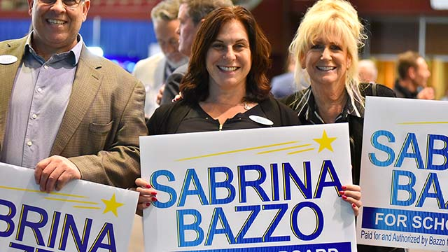 Sabrina Bazzo held a commanding lead in the San Diego school board District A race.
