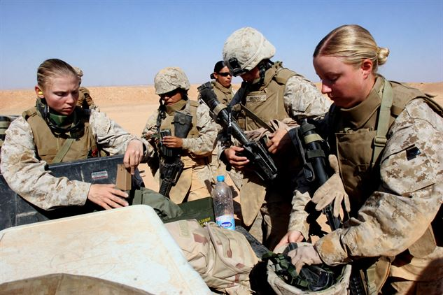 Female Marines training at Camp Pendleton