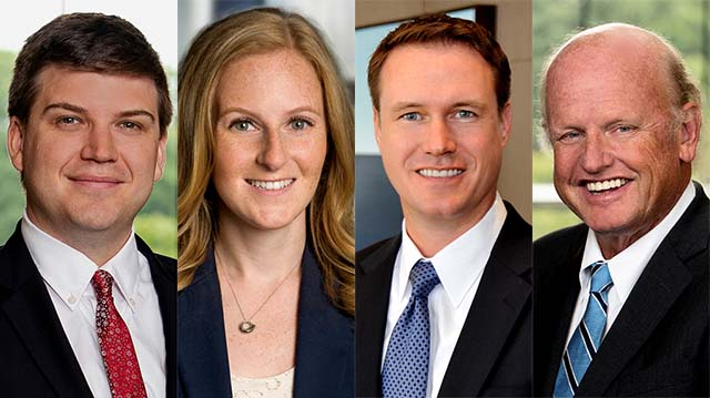 Jones Day attorneys defending Fox News are expected to include (from left) Anthony J. Dick, Emily Goldberg Knox, Christopher Lovrien and Michael A. Carvin.