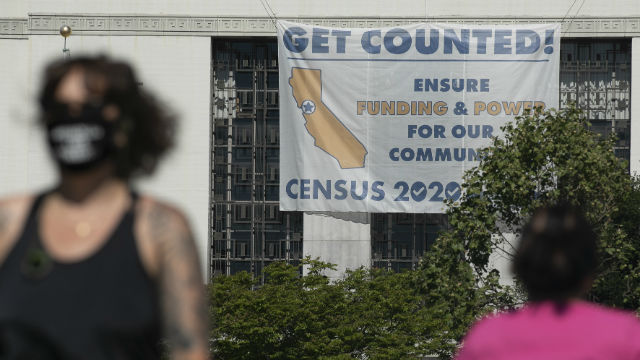 Sign encouraging census participation
