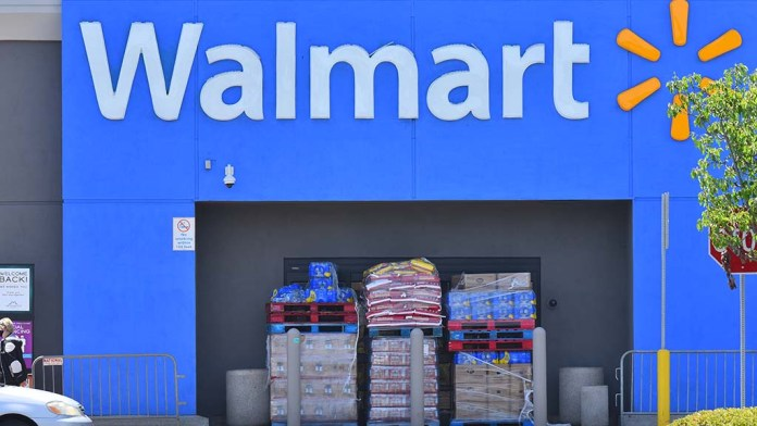 Walmart at the Grossmont Center in La Mesa blocked the side entrance to prevent looting.