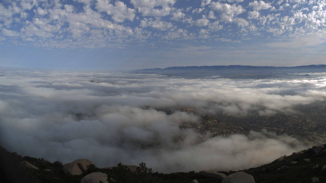Clouds over north San Diego County on Saturday