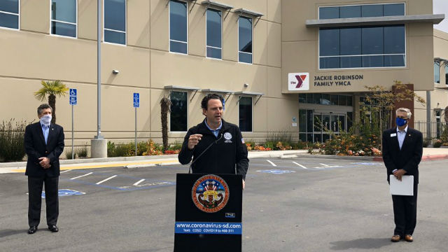 Nathan Fletcher announces YMCA program