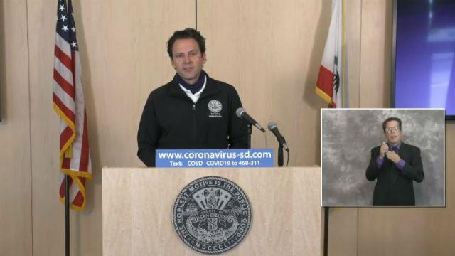 Supervisor Nathan Fletcher speaks at briefing