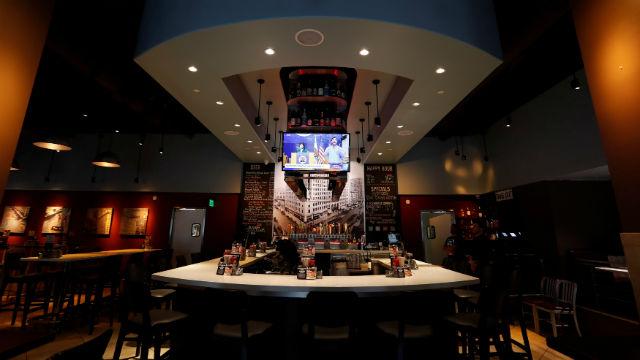 Empty bar in downtown San Diego