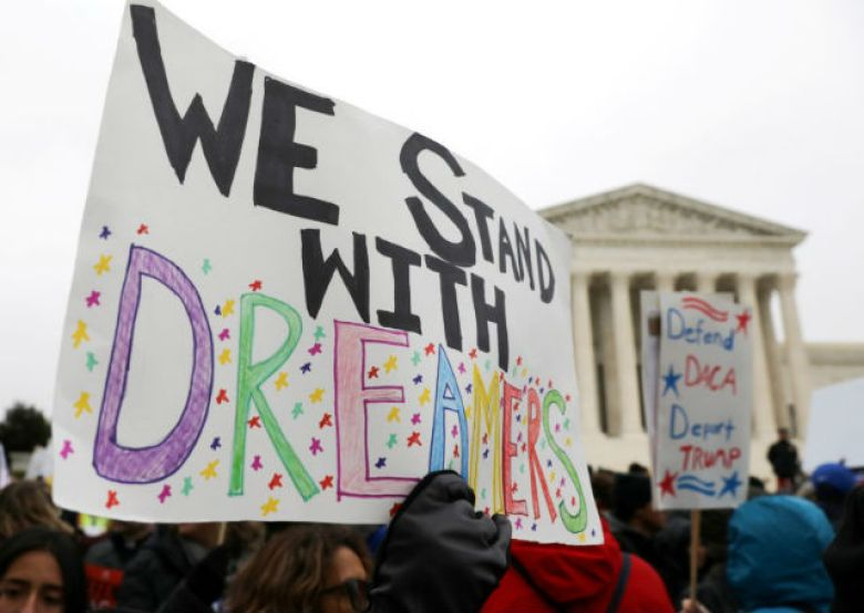 Demonstrators rally for DACA