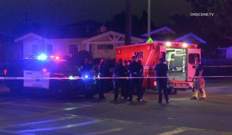 Police at scene of shooting in Stockton