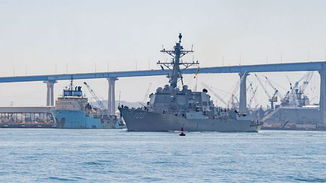 USS Kidd departs Naval Base San Diego