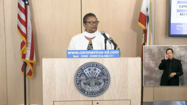 Dr. Wilma Wooten speaks at Friday's media briefing