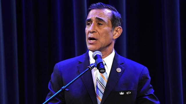 Darrell Issa, shown at a February debate, dropped his lawsuit against Gov. Gavin Newsom and Secretary of State Alex Padilla seven weeks after it was filed. Photo by Chris Stone